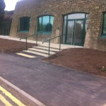 Handrails for metal staircase