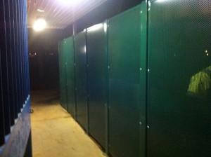 bespoke metal work decorative loo doors
