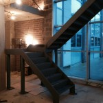 final steel staircase